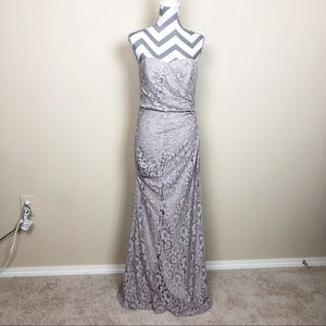 David's Bridal Sweetheart Strapless Lace Long Gown
